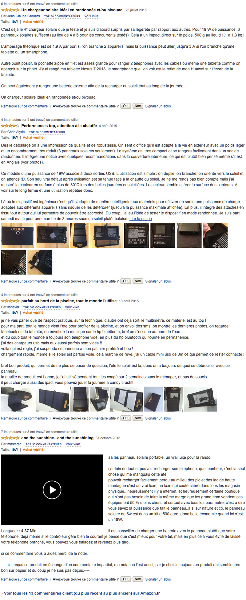 commentaires chloetech